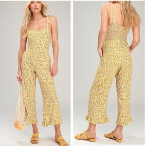 Faithfull the Brand Frankie yellow floral jumpsuit